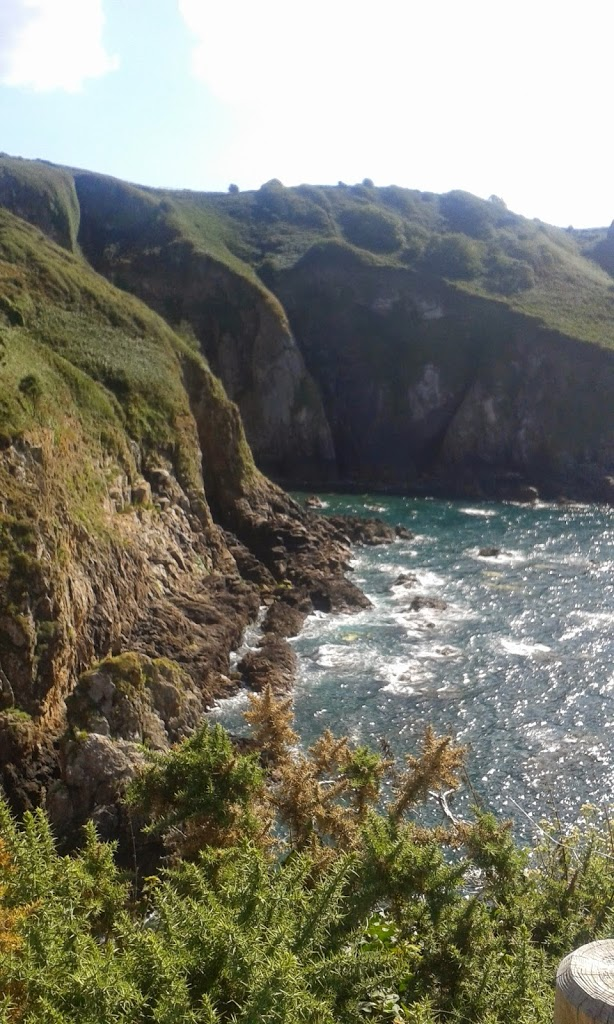 Panorama au Devil's Hole, Jersey, apprendre l'anglais