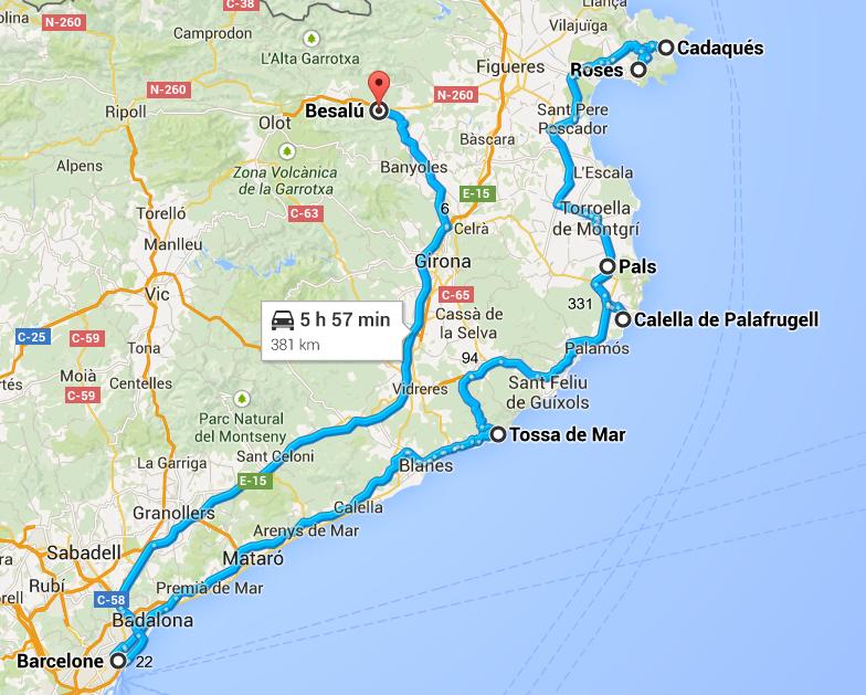 Visiter la Catalogne, road trip catalogne, itinéraire catalogne