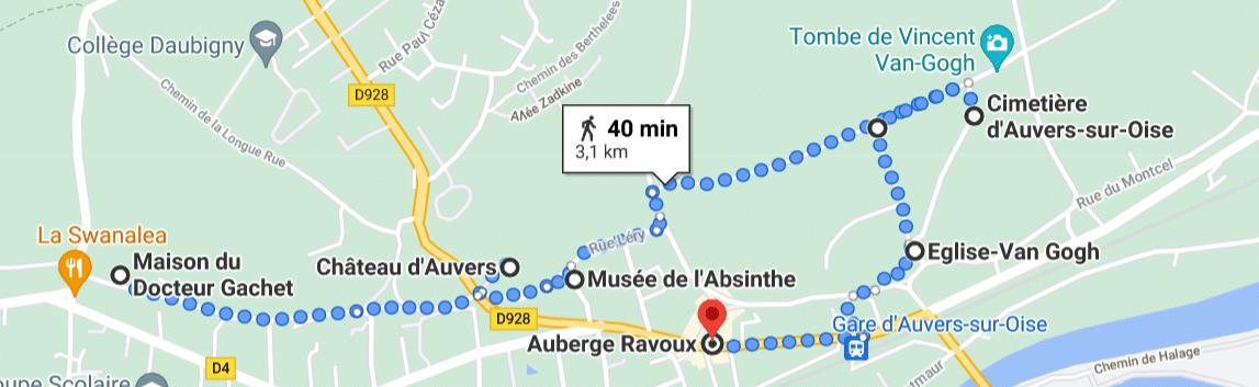 Parcours de Van Gogh à Auvers-sur-Oise