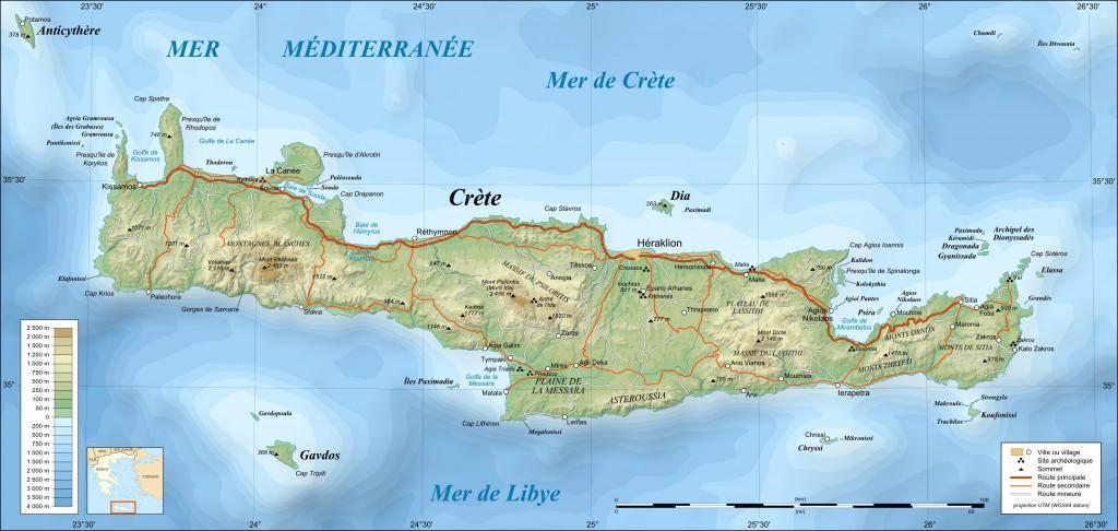 Carte Crète