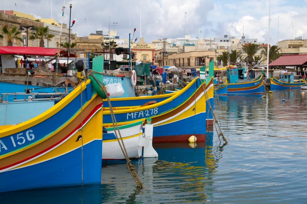 Boats from Marsaxlokk, Malta, What to do in Malta
