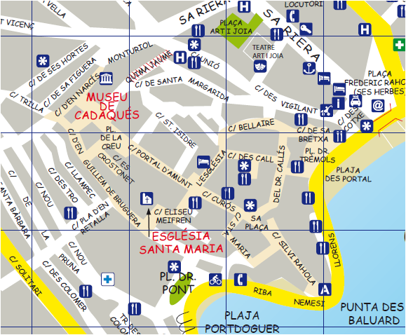 Cadaqués plan, Visit Catalonia, road trip catalog, route catalog