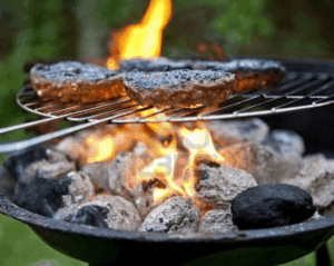 Viande brûlée